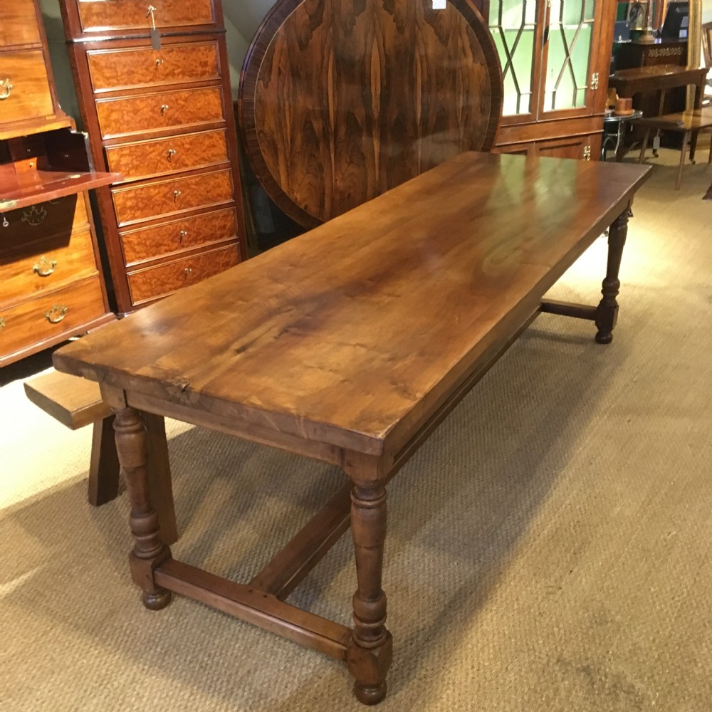 Excellent Walnut Refectory Table Kitchen Table Farmhouse Table Caraccident5 Cool Chair Designs And Ideas Caraccident5Info