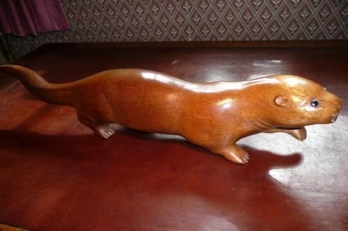 Wood Carving Otter C 1930 | 132641 | www