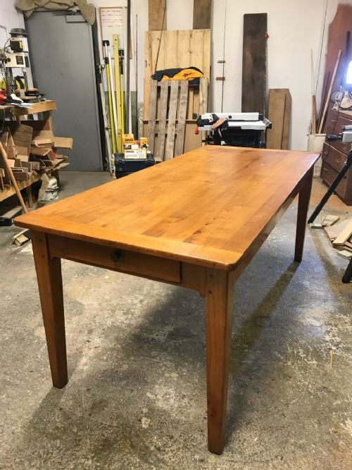 farmhouse table cherry wood