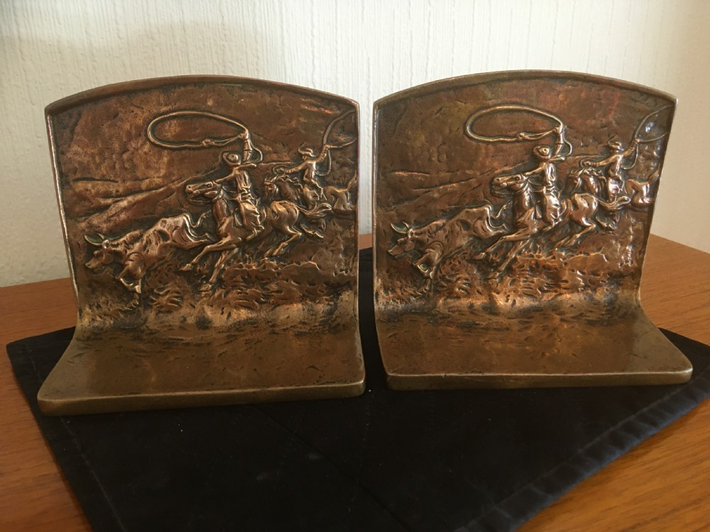 bronze american bookends