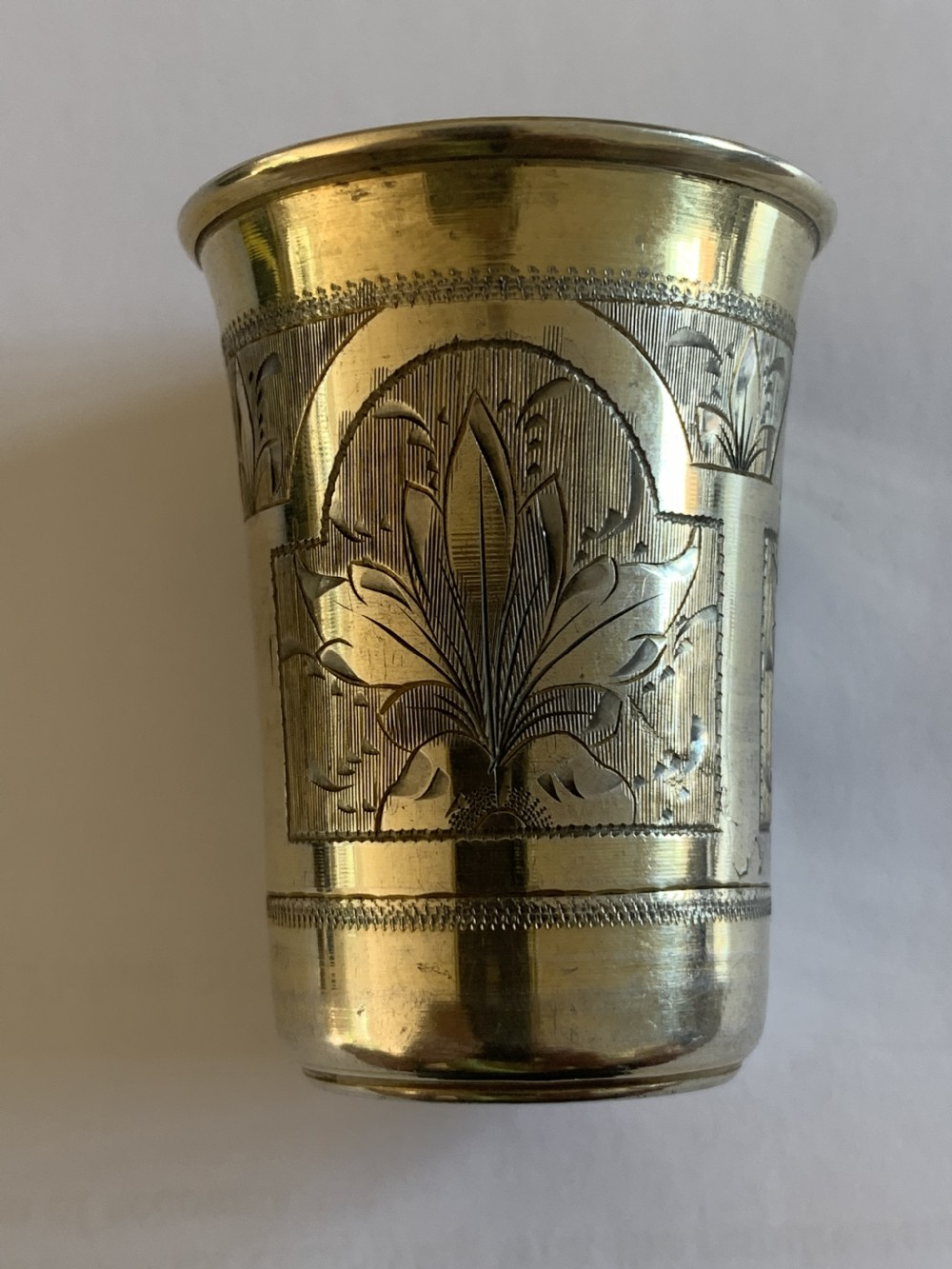russian silver gilt vodka cup