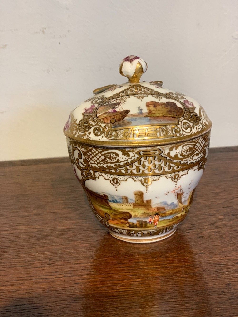 meissen cup and cover
